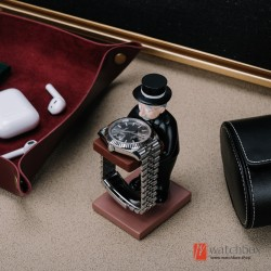 new old housekeeper man servant watch case display stand holder gift decoration