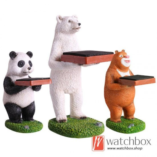 The animals panda home decoration watch stand  gift case display holder