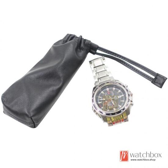 Soft Sheepskin Watch Travel Case Storage Bag Portable Pocket