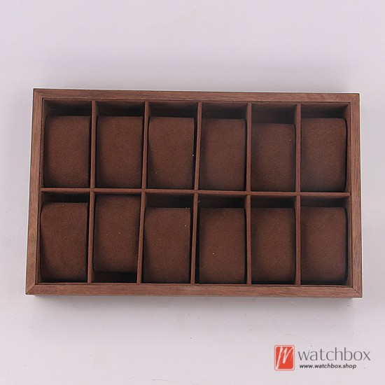 wood watch jewelry rings cuff case watch shop display tray box