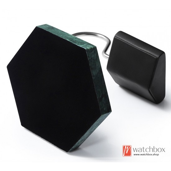 The Luxurious Hexagon Design Marble PU leather Watch Stand Holder Counter Display Stand