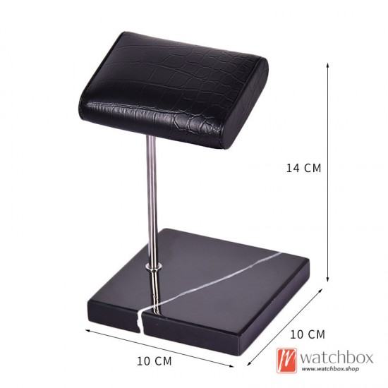 The Luxurious Marble PU leather Watch Stand Holder Counter Display Stand