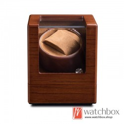 Top quality auto rotate wood mechanical watch winder case storage display box 1+0