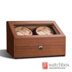 Top quality mechanical auto rotate wood watch winder case storage display box 4+6