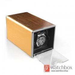 high grade small single square auto rotate mechanical watch winder case storage shake box