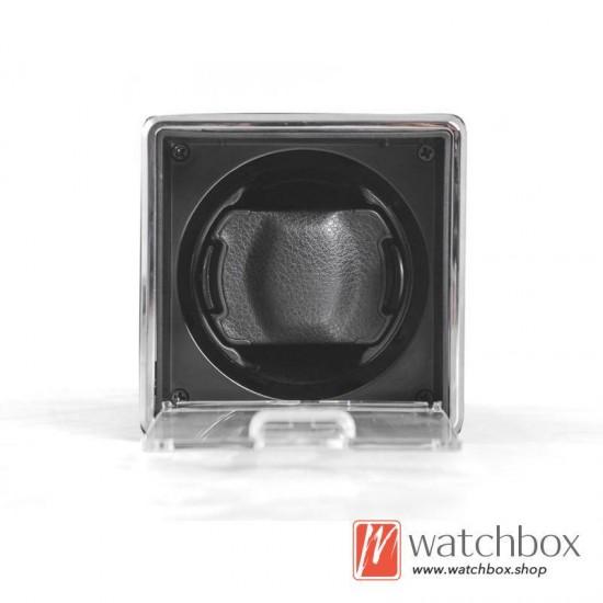 high grade small single square auto rotate mechanical watch winder case storage shake box