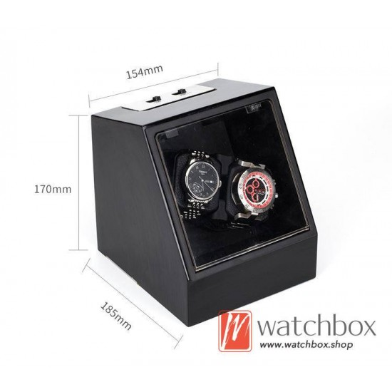 high grade auto rotate shake mechanical watch winder storage box 2+0