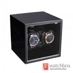 high grade square auto rotate mechanical watch winder storage shake box 2+0