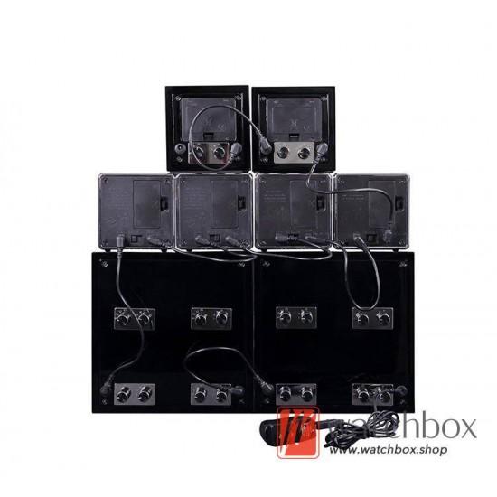 high grade auto shake rotate mechanical watch winder storage case display box 4+0