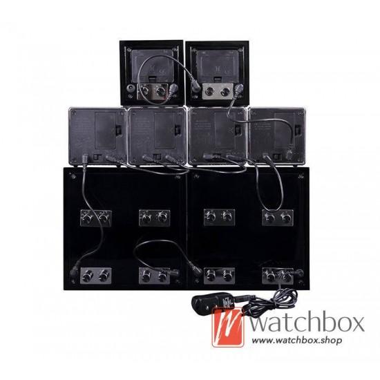high grade auto shake rotate mechanical watch winder storage case display box 2+0