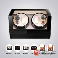 Top quality Premium Automatic Rotate Mechanical Watch Winder Wood Glass Display Watch Box 4+0
