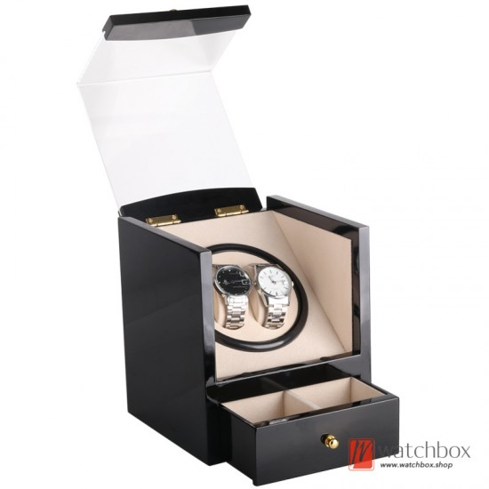 Top quality auto rotate mechanical watch winder storage shake display box 2+2