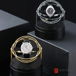 high grade automatic mechanical watch winder metal turning shake watch storage box home decoration