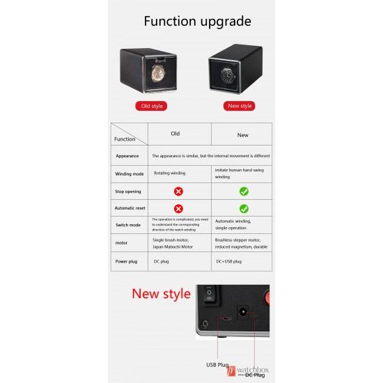 New square single imitation hand auto rotate wind-up mechanical watch winder case storage shake box