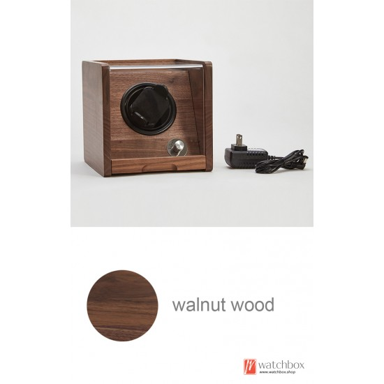Top quality Automatic Rotate Walnut Wood Antimagnetic Mechanical Watch Winder Shake Case Storage Display Box