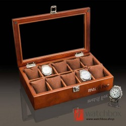 10 slots wood pieces watch jewelry case big pillow storage display box