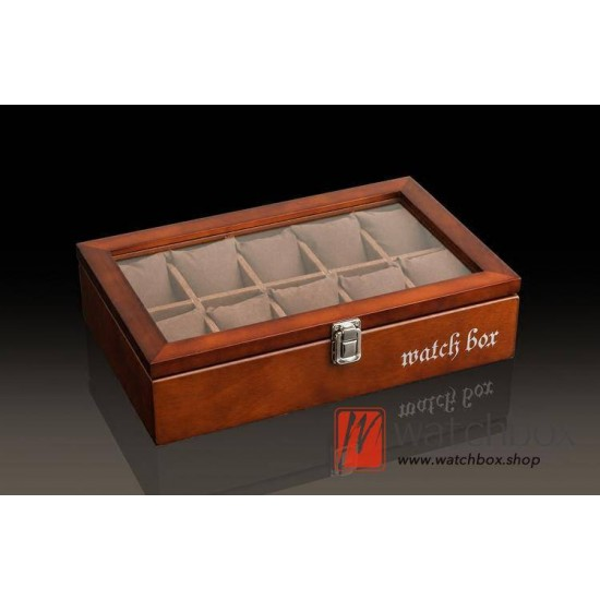 10 slots wood pieces watch jewelry case big pillow storage display box